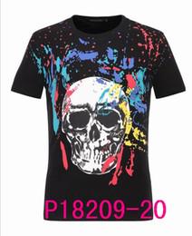 Wholesale Dot Tshirt - hot 2017 Boy Short Sleeve Polo Shirts Men's 100% Cotton Turndown Collar Tees & Polos 3D Skulls Shirt T-Shirt Slim Men Casual Tshirt