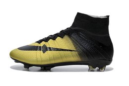 Wholesale Europe Boots - 2017 Europe Cup Champion Cristiano Ronaldo Mens cr7 Soccer Shoes Turf Soccer Cleats Mercurial Superfly Kids Football Boots