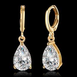 Wholesale Diamond Earings Set - luxury jewelry sets ladies ginger snap earrings flower cz wholesalers large stud earings for women girls handmade accessories white zircon