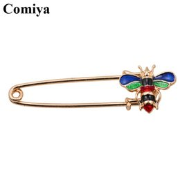 Wholesale Wholesale Cc Charm - Wholesale- Comiya fashion designers gold color zinc alloy colorful epoxy insects charms women brooches feminino joyeria wholesale cc brooch