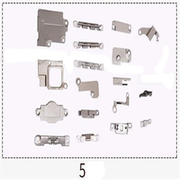 Wholesale Iphone 5c Metal - Full Set Accessories Inside Small Parts PCB Metal Iron Bracket Shield Plate Assembly For iPhone 5 5s 5c 6 6S 6P 7 Plus