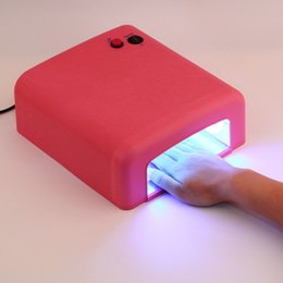 Wholesale Nail Using - Wholesale- 2016 New 818 Nail Lamp Fast Dryer UV 36W Lamp 220v Use Professional Gel Dryer Good Quality Lamp