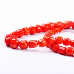 Wholesale Orange Coral Bracelets - 1pack lot High quality irregular round orange red coral tower chain loose spacer beads DIY for bracelet necklace jewelry making