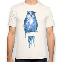Wholesale Owl T - owl New Fashion Man T-Shirt Cotton O Neck Mens Short Sleeve Mens tshirt Male Tops Tees Wholesale