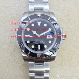 Wholesale Swiss Sapphire - Best Edition High Quality Watch NOOB Factory V7 Swiss ETA 3135 Movement Black 40mm Ceramic 116610 116610LN Automatic Mens Watch Watches