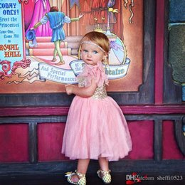 Wholesale Kids Dresses Order - Fashion Sequins Bady Dresses Trend Sleeveless Children's Dress High-Grade Bow Kids Dresses Five Colors MIX ORDER 3PCS CAN MIX ORDER A12