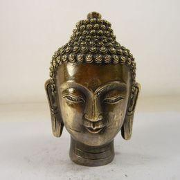 Wholesale Brass Contact - Elaborate Chinese old handmade copper Buddha Sakyamuni head statueplease contact us immediately