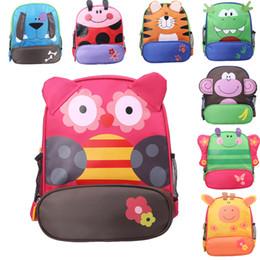 Wholesale Wholesale Zoo Animals - Free DHL Cute Zoo Animal Baby Preschool Backpack Children Toy Shoulder Bag Kids Cartoon Schoolbag Gifts