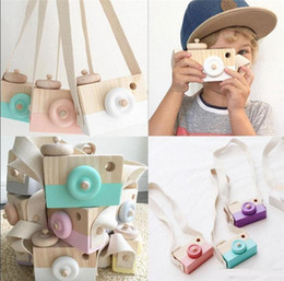 Wholesale Wholesale Baby Toy Camera - INS Novelty Toys for Kids Baby Wooden Toy Camera Photography Props Mini Toy Baby Cute Safe Natural Birthday Gift Room Decoration b1477