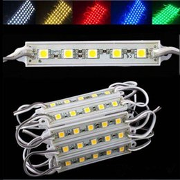 Wholesale G W - Small order 500pcs waterproof IP65 5leds 5050 SMD DC 12v LED MODULES for Sign Board W WW R G B Y