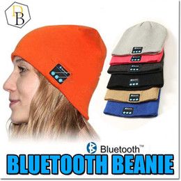 Wholesale Iphone Speaker Microphone - Bluetooth Hat Music Beanie Cap Bluetooth V4.1 Stereo wireless earphone Speaker Microphone Handsfree For IPhone 7 Samsung Galaxy S7 Music Hat