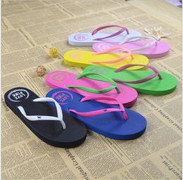 Wholesale Wholesale Pink Flip Flop - VS LOVE PINK Sandals Flip Flops Beach Slippers Shoes Summer Soft Sandalias Beach Love Pink Letter Slippers Casual Rubber Sandals 2017