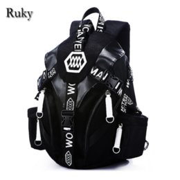 Wholesale High School Student Backpacks - Wholesale- 2016 New Designed Fashion Casual Backpack Men Travel Computer Laptop backpacks High Quality for Teenagers Student School Bags
