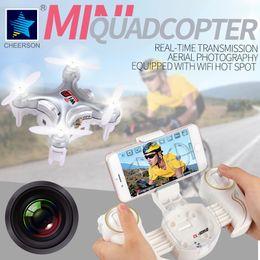 Wholesale Tx Rc Remote - New cherson rc drone with camare remote control helicopter mini rc quadcopter cx-10wd-tx rc helicopter radio control helicopters
