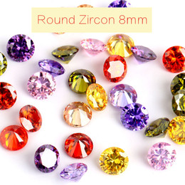 Wholesale Lab Created Loose Gems - 50pcs lot 8mm Loose Colorful Zircon Super Quality Pointed Bottom Rhinestones Artificial Gems Jewelry Shoes Decors