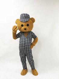 Wholesale Bear Fancy Dress Costumes - Free Shipping Adult Teddy Bear Mascot Costume Cartoon Character Costumes Adult Mascot Costume Fancy Dress Party Suit