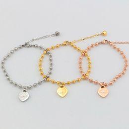 Wholesale Wholesale 14 K Gold - Classic French bracelet female star model Enamel heart-shaped 14 k rose gold nib love hearts bracelet wholesale