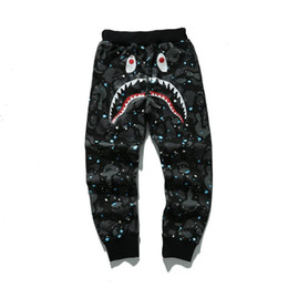 Wholesale Head Cakes - Hip-hop popular logo the product sell like hot cakes Men's Shark Head Japan Aape Luminous camouflage trousers Flight Zip Autumn sports