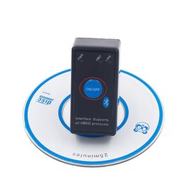 Wholesale Porsche Switch - 2017 Super Mini Bluetooth ELM327 ELM 327 OBD2 OBDII Diagnostic Scanner With Power Switch for Android Windows free shipping