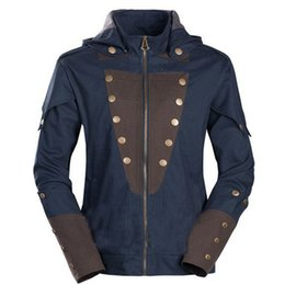 Wholesale Cool Assassins Creed Hoodies - Wholesale- Anime Cosplay Assassins Creed Jacket Unity Arno Hoodie Autumn Winter Zipper Cardigan Outerwear Jackets Cool Sweatshirt Overcoat