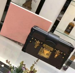 Wholesale Gold Bricks - Free shipping!Hot Selling Wholesale Designer Box Luxury Handbags Evening Bags Leather Fashion Box Clutch Brick Famous Messenger Shoulder Bag