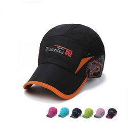 Wholesale Quick Nets - Hot sale Spring and summer sunscreen quick hat man outdoor sports shade net hat lady travel baseball cap WMB115