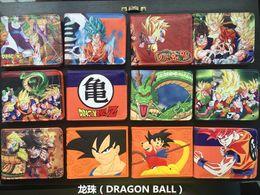 Wholesale Thin Ladies Purses - Japanese Cartoon Wallet Hasp Dragon Ball Z Wallet For Teenager Boy & Girl Ultra Thin Short Anime Wallet Purses Sun Goku