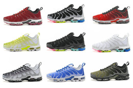 Wholesale Basketball Shoes Tn - 2017 new AIR PLUS TN ultra men running shoes high quality TUNED 1 University Red Black White mens sports sneakers basketball athletic shoes