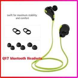 Wholesale Earphones Run - Portable Neckband Noise Cancelling Stereo Bluetooth 4.1 Headset Sport In Ear Earphone Earbuds Microphone Running QY7