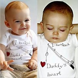 b3d62e12c38c baby rompers Letter Printed Short Sleeve Boys Bodysuit Cotton Love Heart Summer  Infant Jumpsuit Toddler Onesie C1619