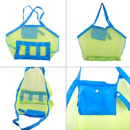 Wholesale Hunting Clothing Wholesale - Baby Children Outdoor Beach Sandy Beach Mesh Bag Children Beach Toys Clothes Towel Bag Baby Toy Collection Nappy Mommy Storage Bag