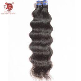 Wholesale Brazilan Hair - High Quality Brazilan natural Wave Hair Extensions 100% Virgin Unprocessed Natural Black Human Hair Weaves 1pcs lot
