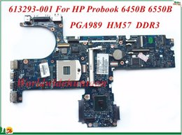 Wholesale coaxial s video - 613293-001 For HP Probook 6450B 6550B Laptop Motherboard PGA989 HM57 DDR3 High Quality&100% Tested&Testing Video Support