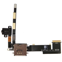 Wholesale Iphone 3g Audio Cable - New Headphone Jack Audio Flex Cable w  SIM Card Slot Socket for Apple iPad 2 3G Version free shipping