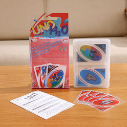 Wholesale Fun Entertainment - Stock 1 Sets UNO poker PVC card standard edition family fun entertainment board game funny Puzzle game Free Shipping