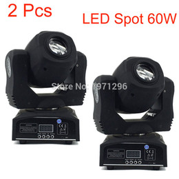 Wholesale Fast Master - Wholesale- 2 Pcs Stage Led Spot 60w 7 Gobos Moving Head Light DMX 9 11 Channels Light Master-Slave Auto Run Sound Controller Fast Shipping