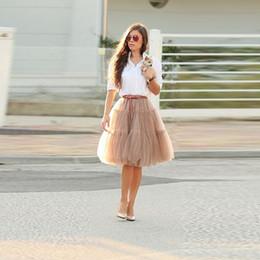 c3b16e248ff8bd gray skirt outfits Australia - Khaki Tutu Skirt Knee Length A Line Puffy  Tulle Skirt Hot