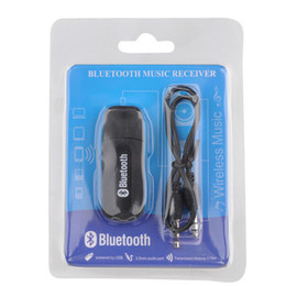 Wholesale Iphone Usb Dongle - Portable usb bluetooth Stereo Music receiver Adapter Wireless Car Audio 3.5mm Bluetooth Receiver Dongle for iphone speaker mp3