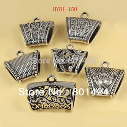 Wholesale 14k Bail - 81-150 jewelry finding antiquated silver plated acrylic scarf bails plastic scarf bails ring charm