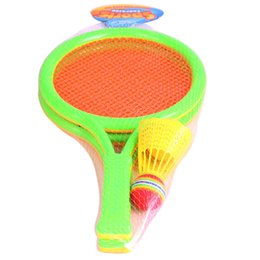 Wholesale Inflatable Toys For Sale Wholesale - Wholesale- 1Set Mini Dual Badminton Tennis Racket Indoor Outdoor Educational Baby Sports Game Gifts Toys For Children Novelty 2017 Hot Sale