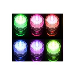 Wholesale Colored Battery Tea Lights - Waterproof Round LED Candle Submersible Tea Lights Wedding Birthday Christmas,with Battery electronic