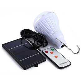 Wholesale Remote Solar Lighting - Ship in One Day Dimmable DC6V 20 Led 2.5W Remote Control Solar Light LED Light Outdoor Garden Solar Lamp +1W Solar Panel