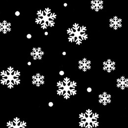 Wholesale Snowflake Decals Stickers - Wholesale-2017 Nre Year Christmas Wall Window Stickers Angel Snowflake Christmas Xmas Vinyl Art Decoration Decals home, bathroom, office