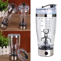 Wholesale Rechargeable Blender - 450ml Electric Protein Shaker Blender USB Rechargeable Vortex Mixer Coffee Mixing Cup Fruit Blender Drink Mixing Cup OOA2713