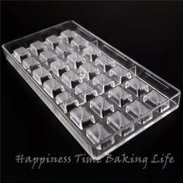Moldura de plástico personalizada online-Dulces dulces alimentos para hornear herramientas de pastelería moldes de chocolate personalizados, utensilios para hornear de cocina moldes de pastelería de policarbonato plato para hornear de plástico