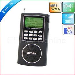 Wholesale Ats Radio - Wholesale-Degen DE1126 Radio Digital Receiver FM Stereo MW SW AM 4GB MP3 DSP ATS D2977A