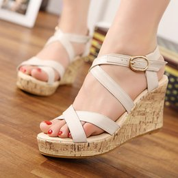 Wholesale Small Yards - In 2017, Restore Ancient Ways The Season Shoes Platform Shoes Platform Big Yards of Shoes Small Sandals Wedge Sandals 30-41 Yards