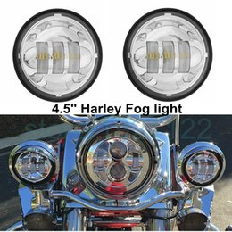 "Wholesale Motorcycle Lamp Led Auxiliary - 4.5 INCH Motorcycle Led Fog Lamp 4-1 2"" 30W Chrome LED Auxiliary Fog Passing Light for Harley Daivdson"