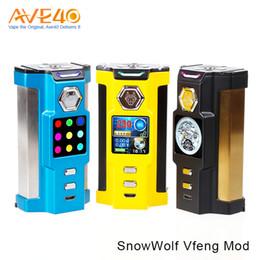 Caja sigelei online-Snowwolf Vfeng Vape Mod 230W Vfeng caja Mod encaja Snowwolf atomizador dual encaja 18.650 células originales del 100% de actualización Sigelei Kaos