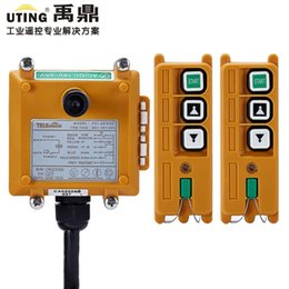 Wholesale hoist system - Wholesale- 2 Speed 2Transmitter 1 receiver 2 Channels Hoist Crane Industrial Truck Radio Remote Control System Controller